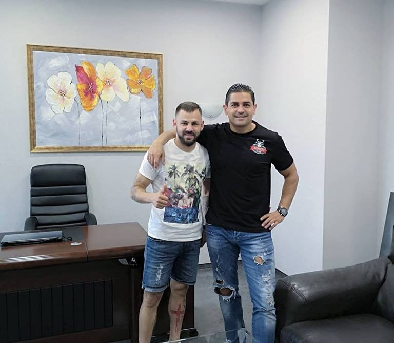 The star of Ekstraklasa and FC Pogon Szczecin, Spas Delev at Vasilev and Co. Consulting's office