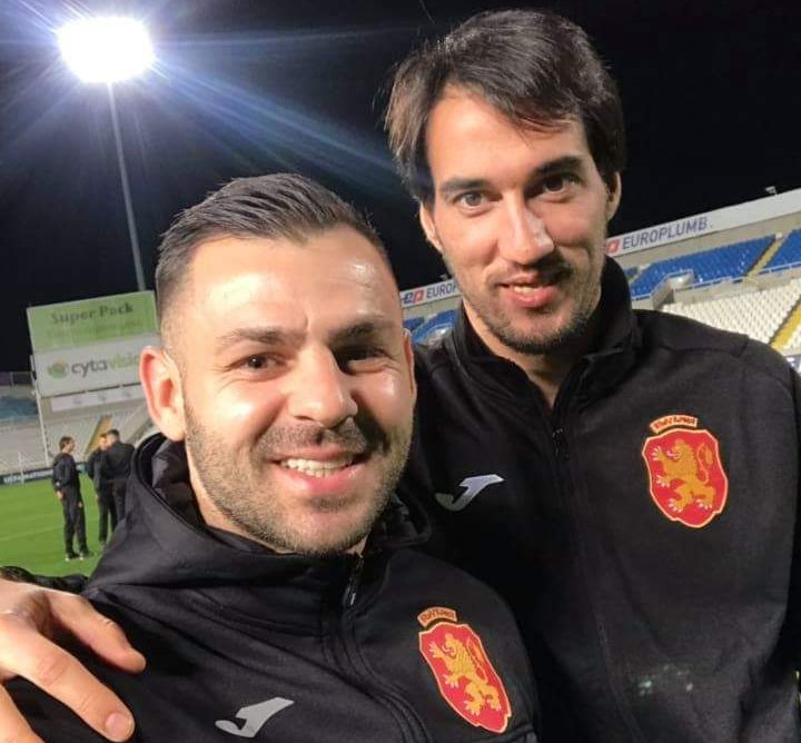 Ivelin Popov and Spas Delev in good mood in today's training session of the national team